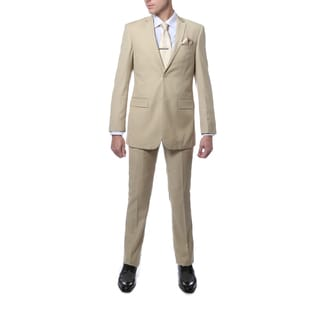 Ferrecci Men's Tan Regular Fit 2-piece Suit