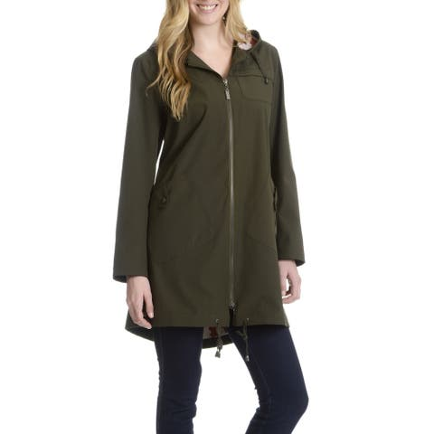 Montreal Women's Hooded Shirt Tail Hem Jacket