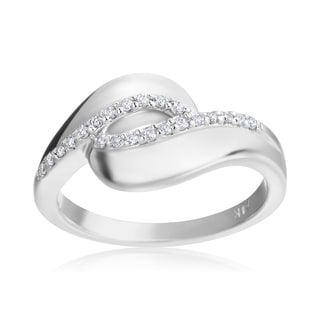 Andrew Charles 14k White Gold 1/7ct TDW Diamond Ring (H-I, SI2-I1)