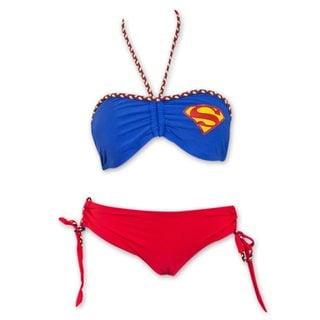 Superman Cheeky Short Women's Braided Bandeau Bikini
