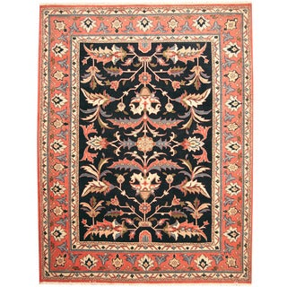Herat Oriental Persian Hand-knotted Mahal Wool Rug (9'1 x 11'9)