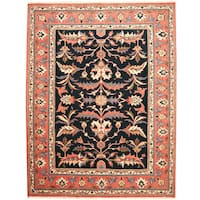 Herat Oriental Persian Hand-knotted Mahal Wool Rug - 9'1 x 11'9