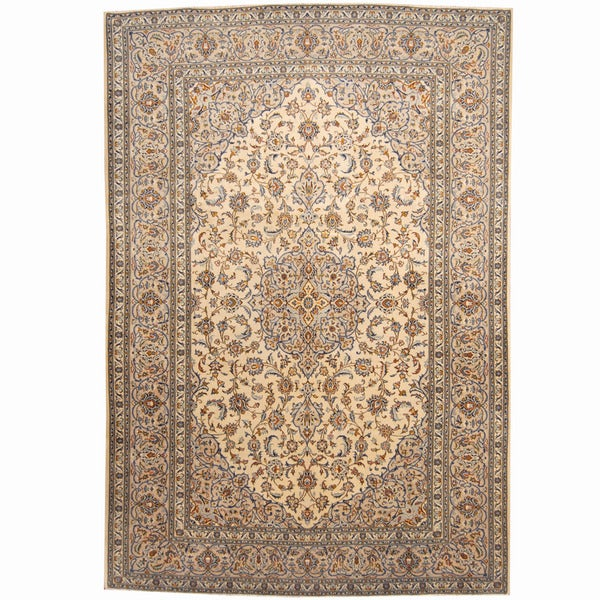 Herat Oriental Persian Hand-knotted Kashan Wool Rug - 8' x 11'8