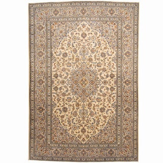 Herat Oriental Persian Hand-knotted Kashan Wool Rug (8' x 11'8)