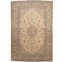 Herat Oriental Persian Hand-knotted Kashan Wool Rug (8' x 11'8) - 8' x 11'8