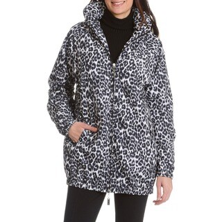 Nikki Jones Montreal Women's Animal Print Puff Collar Jacket