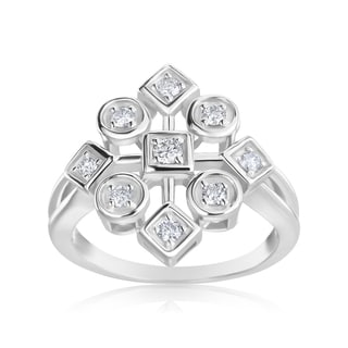 Andrew Charles 14k White Gold 1/3ct TDW Diamond Ring (H-I, SI2-I1)