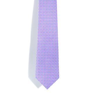 Davidoff 100-percent Silk Lavender Print Neck Tie
