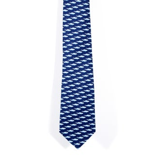 Davidoff 100-percent Silk Blue/ White Neck Tie