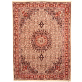 Herat Oriental Persian Hand-knotted Moud Wool Rug (8'9 x 11'10)