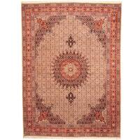 Handmade Herat Oriental Persian Moud Wool Rug (Iran) - 8'9 x 11'10