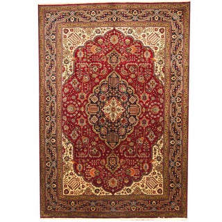 Herat Oriental Persian Hand-knotted Tabriz Wool Rug (8'3 x 11')