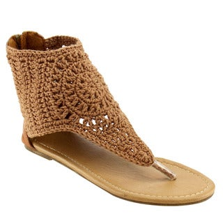 Beston CC88 Knit Thong Sandals