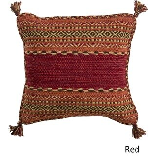Southwest Tassels 20-inch Poly or Feather Down Pillow