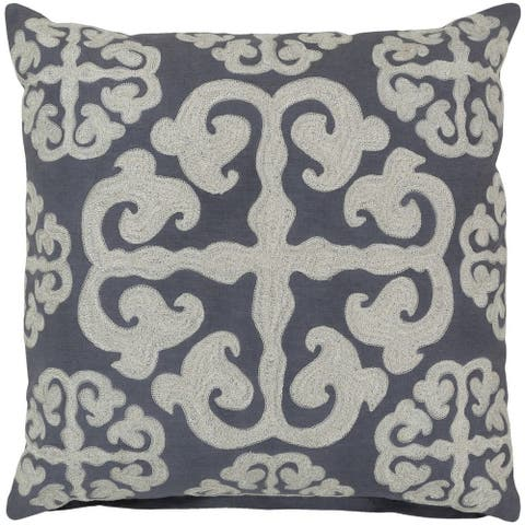 Decorative Bank 22-inch Poly or Feather Down Filled Pillow