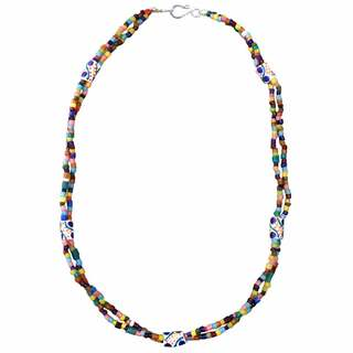"Handmade Global Mamas Women's ""Festival Rainbow"" Necklace (Ghana)"
