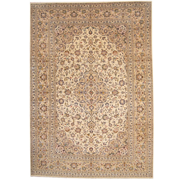 Persian Hand Knotted Kashan Silk And Wool Area Rug Ebth: Herat Oriental Persian Hand-knotted 1960s Semi-antique