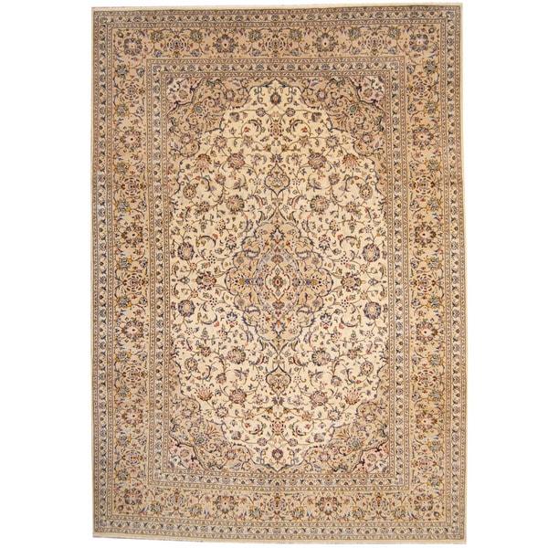 Herat Oriental Persian Hand-knotted 1960s Semi-antique Kashan Wool Rug (8' x 11'5) - 8' x 11'5