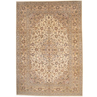 Herat Oriental Persian Hand-knotted 1960s Semi-antique Kashan Wool Rug (8' x 11'5)