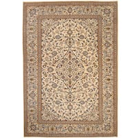 Herat Oriental Persian Hand-knotted 1940s Semi-antique Kashan Wool Rug - 8' x 11'7