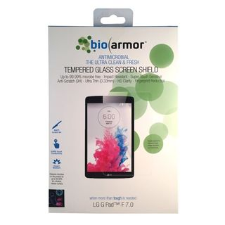 Bioarmor Antimicrobial Tempered Glass Screen Shield Protector for LG G Pad 7.0