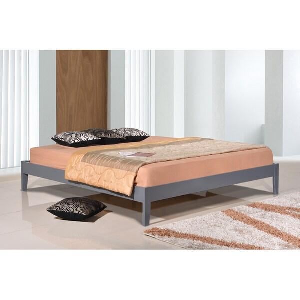 Shop Luxeo Manhattan Grey Eco Friendly Solid Wood King Size Platform