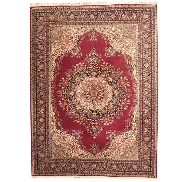 Herat Oriental Persian Hand-knotted Mashad Wool Rug - 9' x 12'