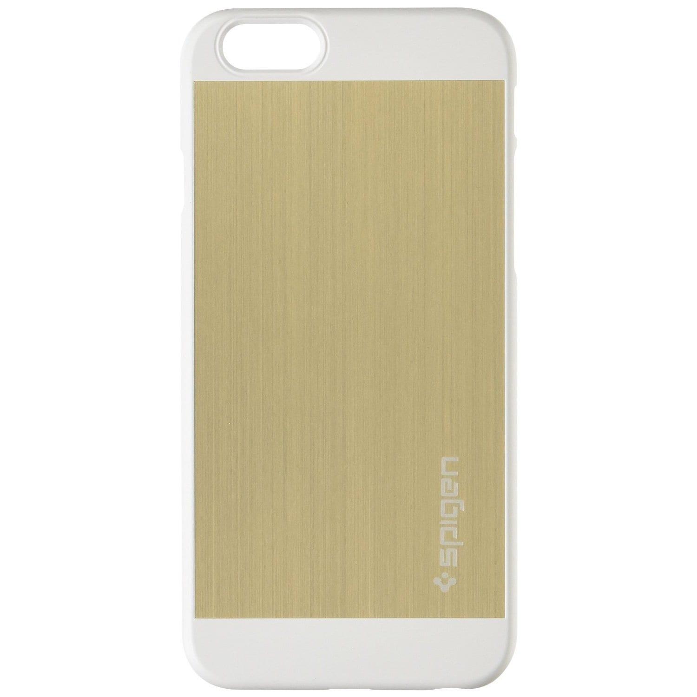 online store ca2b2 4d48e Spigen [BRUSHED ALUMINUM] Aluminum Fit Case for iPhone 6 6S Champagne Gold  (SGP10945)
