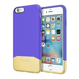 Incipio Rigid Protection Edge Chrome Carrying Case for iPhone 6s Retail Packaging Purple/Gold
