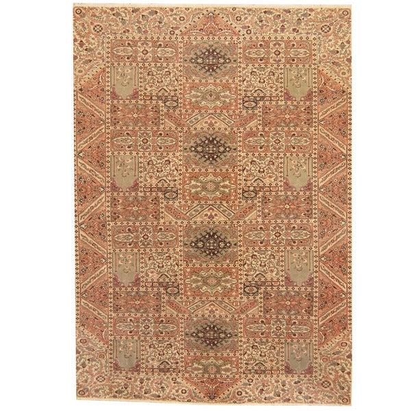 Handmade Herat Oriental Persian 1960s Semi-antique Tabriz Wool Rug (Iran) - 8'2 x 11'9