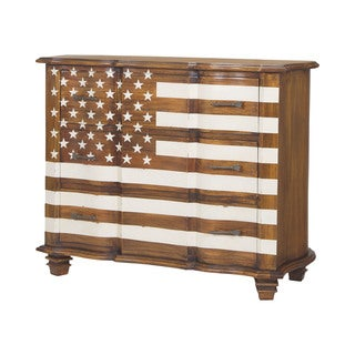 Dimond Home Westward Chest in Honey Stain and White