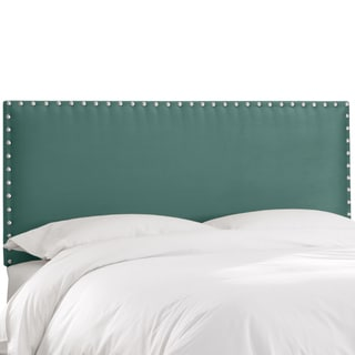 Skyline Furniture Premier Tidepool Nail Button Border Headboard