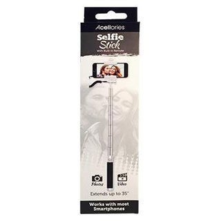 Acellories Selfie Stick Monopod with 3.5mm Wired AUX Cable
