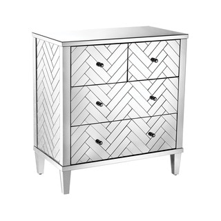 Diamond Home Chalet Collection Mirrored Four-drawer Chest
