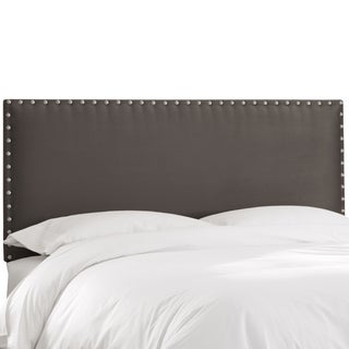 Skyline Furniture Premier Charcoal Nail Button Border Headboard
