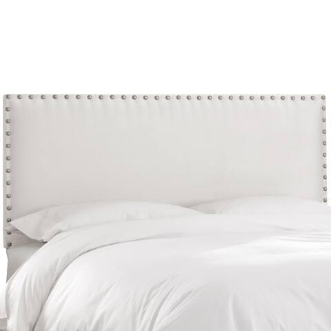 Skyline Furniture Premier White Nail Button Border Headboard