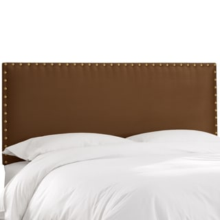 Skyline Furniture Premier Chocolate Nail Button Border Headboard