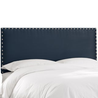 Skyline Furniture Premier Navy Nail Button Border Headboard