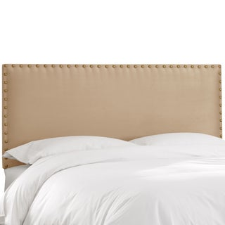 Skyline Furniture Premier Oatmeal Nail Button Border Headboard