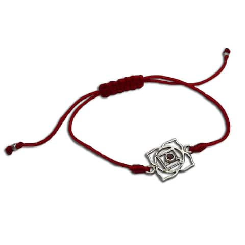 Handmade Root Chakra Red Adjustable Bracelet (India)