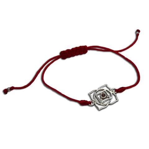 Handmade Root Chakra Red Adjustable Bracelet (India)