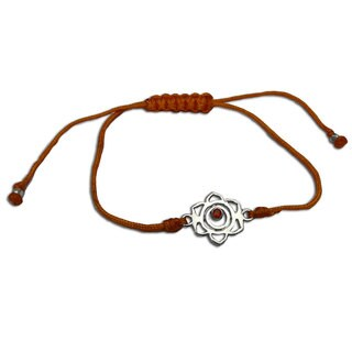 Handmade Sacral Chakra Orange Adjustable Charm Bracelet (India)