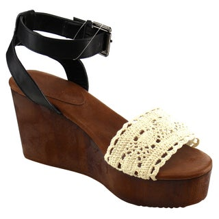 Beston CC91 Women's Ankle Strap Wedge Sandals