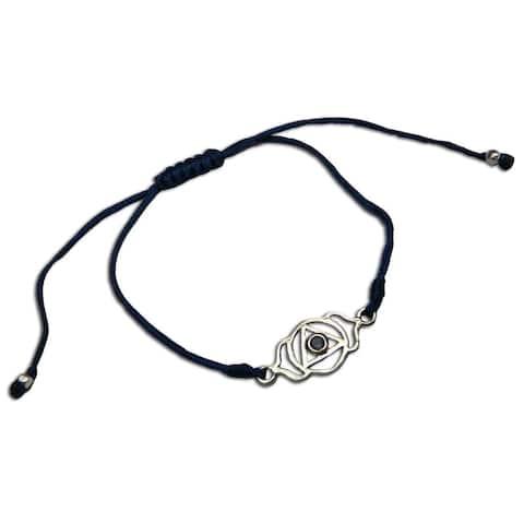 Handmade Forehead Chakra Blue Adjustable Charm Bracelet (India)
