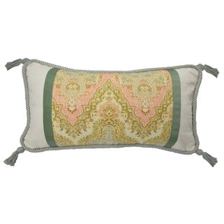 Waverly Graceful Garden Pieced Oblong Reversible Throw Pillow