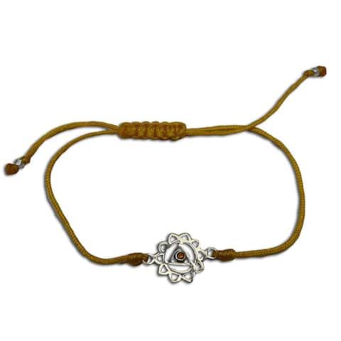 Handmade Solar Plexus Chakra Yellow Adjustable Charm Bracelet (India)