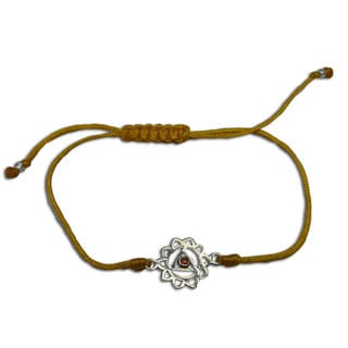 Solar Plexus Chakra Yellow Adjustable Charm Bracelet (India)