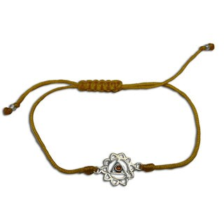 Handmade Solar Plexus Chakra Yellow Adjustable Charm Bracelet (India)