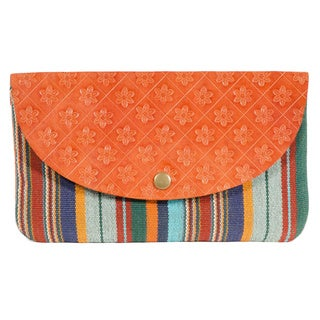 Boho Leather Clutch (India)