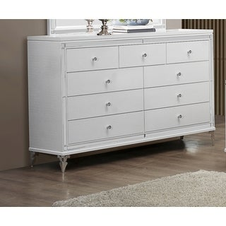 White Metallic Dresser